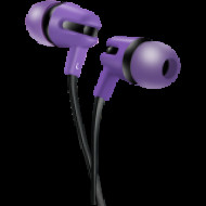 CANYON CANYON Stereo earphone with microphone, 1.2m flat cable, Purple, 22*12*12mm, 0.013kg CNS-CEP4P