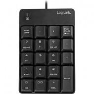 USB-s numerikus billentyűzet LogiLink ID0184 Fekete