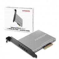 AXAGON PCEM2-NC PCIE NVME M.2 x4 M-Key slot adapter with passive cooler PCEM2-NC