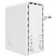 MikroTik PL7411-2nD PWR-LINE AP 1x FE LAN port 2,4GHz wireless integrált antenna PL7411-2ND