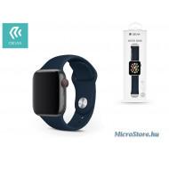 Devia Apple Watch lyukacsos sport szíj - Devia Deluxe Series Sport Band - 38/40 mm - dark blue ST324857