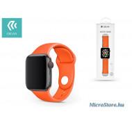 Devia Apple Watch lyukacsos sport szíj - Devia Deluxe Series Sport Band - 38/40 mm - orange ST324802