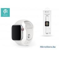Devia Apple Watch lyukacsos sport szíj - Devia Deluxe Series Sport Band - 38/40 mm - white ST324864