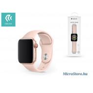 Devia Apple Watch lyukacsos sport szíj - Devia Deluxe Series Sport Band - 38/40 mm - pink ST324840