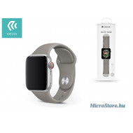 Devia Apple Watch lyukacsos sport szíj - Devia Deluxe Series Sport Band - 42/44 mm - gray ST324901