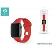 Devia Apple Watch lyukacsos sport szíj - Devia Deluxe Series Sport Band - 42/44 mm - red ST324970