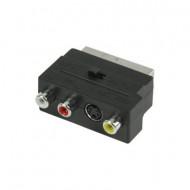Adapter S-Video - RCA S-Video apa -> 3xRCA anya