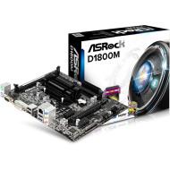 ASROCK D1800M Integrált CPU,2xDDR3,Max:1600MHz,Max:16GB,VGA,1xPCIE16,2xPCIE1,2xSATAII,2xUSB,1xUSB3,DVI,HDMI,5.1,Gigabit,PS2:2,Micro-ATX