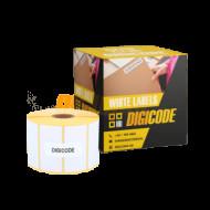 50*25 mm papír etikett címke  (DC100PA0500002500-001) /db