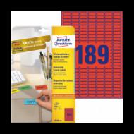 25,4*10 mm íves etikett címke  (Avery-Zw.L6036-20) /db