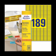 25,4*10 mm íves etikett címke  (Avery-Zw.L6037-20) /db