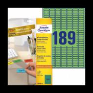 25,4*10 mm íves etikett címke  (Avery-Zw.L6049-20) /db