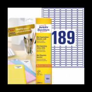 25,4*10 mm íves etikett címke  (Avery-Zw.L7658-25) /db