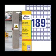 25,4*10 mm íves etikett címke  (Avery-Zw.L7871-20) /db