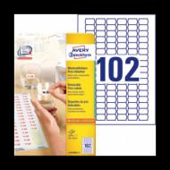26*16 mm íves etikett címke  (Avery-Zw.L3410REV-25) /db