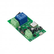 SmartWise 5V-32V egy áramkörös, WiFi + RF, NO/NC okosrelé, kontakt kapcsolással, impulzus üzemmóddal SMW-REL-532V-1RF