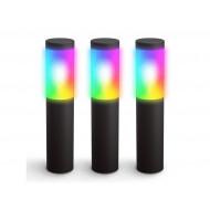 Innr, Smart Outdoor Pedestal Light, 215lm (ZLL), 3 pedestals, 3-pack OPL 130 C