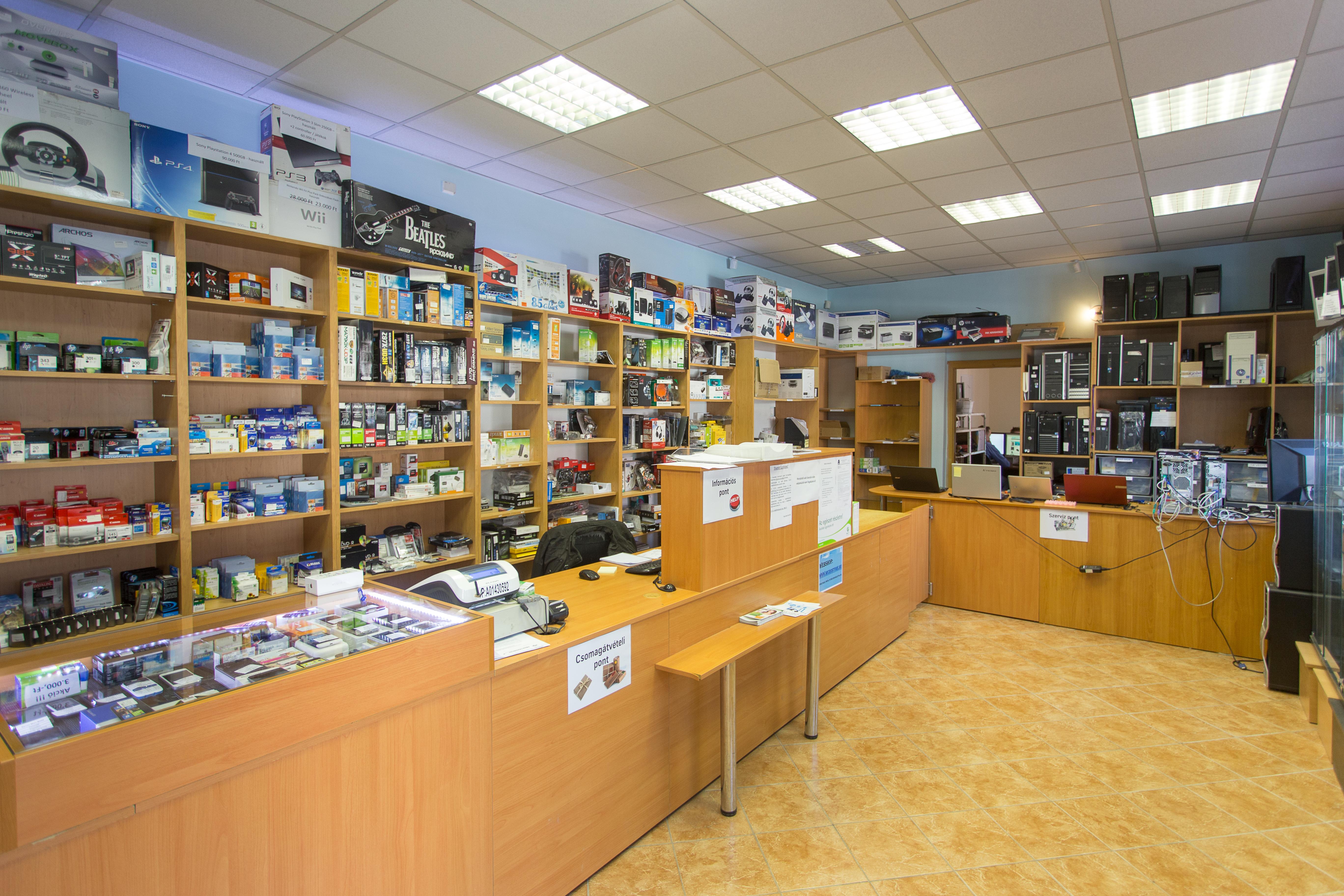 Microstore Üzlet Beltér
